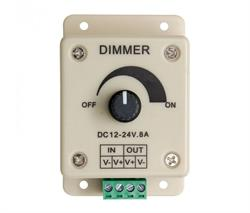 REGULADOR DIMMER PARA TIRAS DE LED 12V 24V 8A 81.056