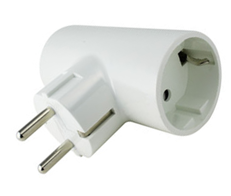 ADAPTADOR DOBLE 16A BLANCO DH